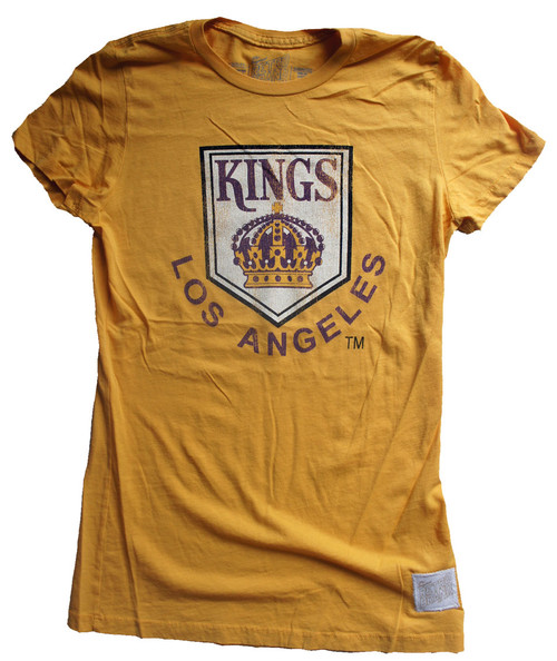 Vintage nhl los angeles kings retro ladies crew shirt for Retro nhl t shirts