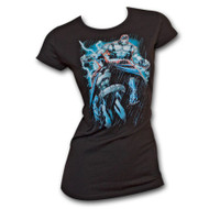 Batman & Bane Womens Black T-Shirt