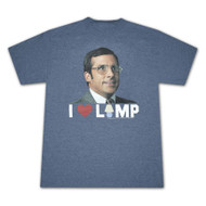 Anchorman I Heart Lamp Mens Blue T-Shirt