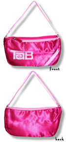 Tab Logo Satin Hand Bag