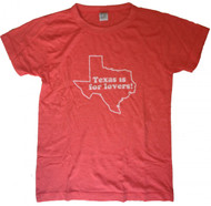 Texas is for Lovers Vintage Style Ladies Shirt
