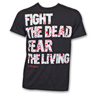 The Walking Dead Fear The Living Blood Splatter T-Shirt