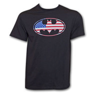 Batman American Flag Logo T-Shirt