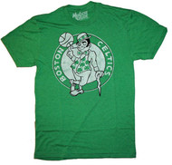 NBA Boston Celtics Vintage Style Tri Blend Mens T-Shirt