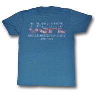 Mens United States Football League Retro Tee Shirt in Blue
