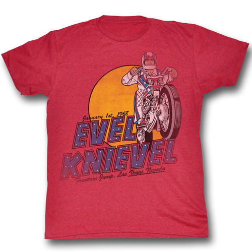 Evel Knievel Danger Zone Mens Tee Shirt
