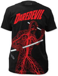 MARVEL TEES DAREDEVIL - NERVOUS SYSTEM MENS BIG PRINT SUBWAY TEE
