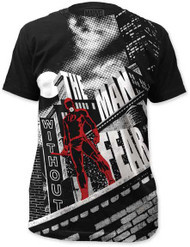MARVEL TEES DAREDEVIL - WITHOUT FEAR MENS BIG PRINT SUBWAY TEE
