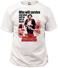 TEXAS CHAINSAW MASSACRE WHO WILL SURVIVE MENS TEE