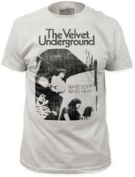 VELVET UNDERGROUND WHITE LIGHT/WHITE HEAT FITTED JERSEY TEE