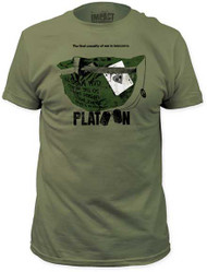 PLATOON THE FIRST CASUALTY MENS FITTED JERSEY TEE