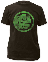 MARVEL TEES THE INCREDIBLE HULK FIST BUMP MENS FITTED JERSEY TEE