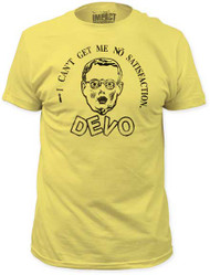 DEVO NO SATISFACTION MENS FITTED JERSEY TEE