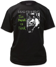 DEAD KENNEDYS TOO DRUNK MENS TEE