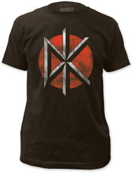 DEAD KENNEDYS DISTRESSED LOGO FITTED JERSEY TEE SHIRT