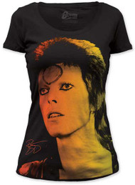 DAVID BOWIE BID STARDUST JUNIORS SCOOP NECK