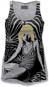 DEBBIE HARRY ZEBRA PRINT JUNIORS TANK