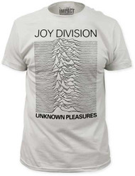JOY DIVISION UNKNOWN PLEASURES FITTED JERSEY TEE SHIRT