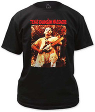 TEXAS CHAINSAW MASSACRE LEATHERFACE & GRANDPA MENS TEE