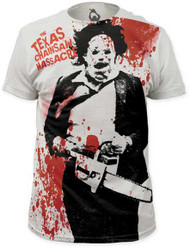 TEXAS CHAINSAW MASSACRE SPATTER BIG PRINT MENS SUBWAY TEE