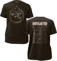 PINK FLOYD WORLD TOUR MENS FITTED JERSEY TEE