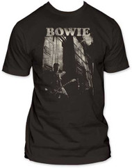 DAVID BOWIE GUITAR MENS FITTED JERSEY TEE