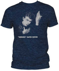 DAVID BOWIE HEROES MENS FITTED JERSEY TEE