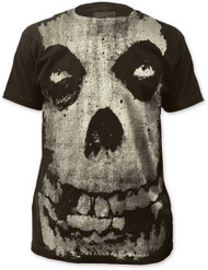 THE MISFITS ALL-OVER MISFITS SKULL MENS SUBWAY TEE