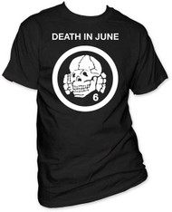 DEATH IN JUNE TOTENKOPF 6 LOGO MENS TEE