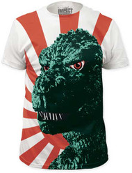 GODZILLA RISING SUN BIG PRINT MENS SUBWAY TEE