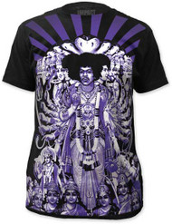 JIMI HENDRIX AXIS BOLD AS LOVE BIG PRINT MENS SUBWAY TEE