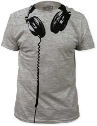 HEADPHONES BIG PRINT MENS SUBWAY TEE