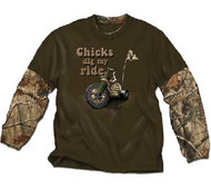 Chicks Dig My Rider 2-Fer Toddler Shirt
