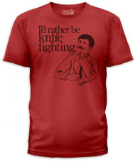 ID RATHER BE KNIFE FIGHTING MENS TEE