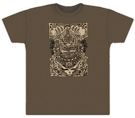 Grateful Dead Aiko Retro on Brown Adult T-shirt or Short Sleeves T-shirt