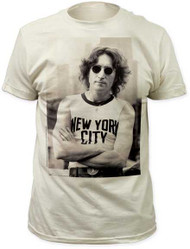 Mens John Lennon Wearing NYC Shirt Tee Shirt