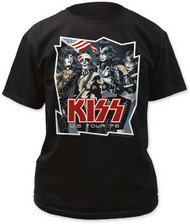 Mens Kiss 1976 US Tour Shirt Tee Shirt