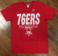 Vintage Inspired Mens Philadelphia 76ers Tee Shirt by Junk Food