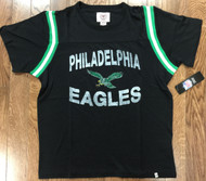 47 Brand Mens Philadelphia Eagles Jet Black Legacy First String Tee Shirt