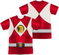 Mens Power Ranger Red Ranger Sublimation Tee Shirt
