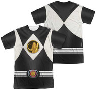 Mens Power Ranger Black Ranger Sublimation Tee Shirt