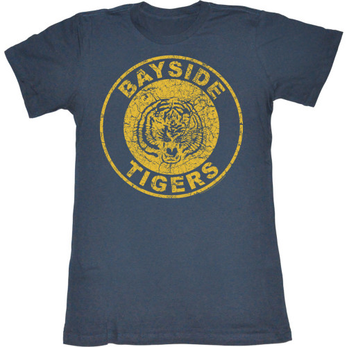 Saved by the Bell Bayside High Ladies Tee Shirt in Indigo