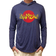 Karate Kid Banzai Long Sleeve Hooded Shirt