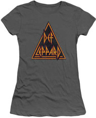 Def Leppard Distressed Logo Ladies Tee Shirt