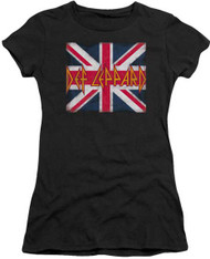 Def Leppard Union Jack Ladies Tee Shirt