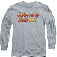 Mens Saturday Night Live Schweddy Balls  Long Sleeve Tee Shirt
