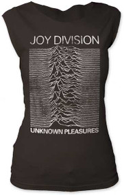 Womens Joy Division Unknown Pleasures Cut Tee Shirt