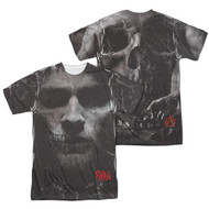 Mens Sons of Anarchy Jax Skull Sublimation Tee Shirt