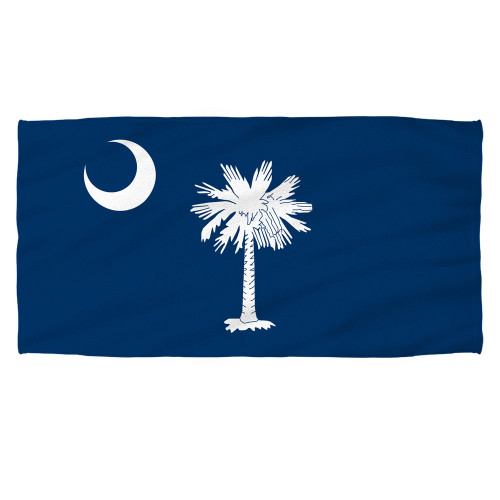 South Carolina Flag Sublimation Beach Towel