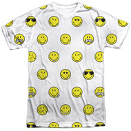Adult Smiley World Smiley Pattern Sublimation T-Shirt